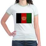 Afghanistan Flag Jr. Ringer T-Shirt