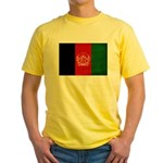 Afghanistan Flag Yellow T-Shirt