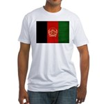 Afghanistan Flag Fitted T-Shirt