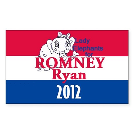 Romney Ryan Sticker (Rectangle)