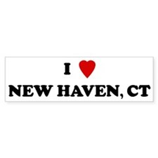 I Love New Haven Bumper Bumper Sticker