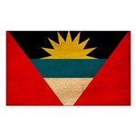 Antigua and Barbuda Flag Sticker (Rectangle 10 pk)