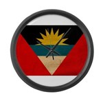 Antigua and Barbuda Flag Large Wall Clock