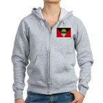 Antigua and Barbuda Flag Women's Zip Hoodie