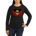 Antigua and Barbuda Flag Women's Long Sleeve Dark
