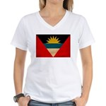 Antigua and Barbuda Flag Women's V-Neck T-Shirt