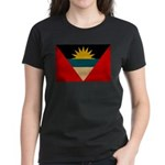 Antigua and Barbuda Flag Women's Dark T-Shirt