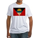 Antigua and Barbuda Flag Fitted T-Shirt