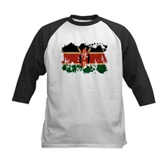 Kenya Flag Kids Baseball Jersey