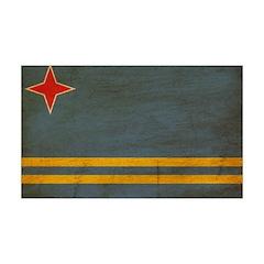 Aruba Flag 38.5 x 24.5 Wall Peel
