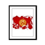 Kyrgyzstan Flag Framed Panel Print