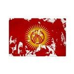 Kyrgyzstan Flag Rectangle Magnet (10 pack)