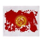 Kyrgyzstan Flag Throw Blanket