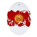Kyrgyzstan Flag Ornament (Oval)
