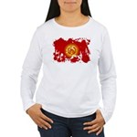 Kyrgyzstan Flag Women's Long Sleeve T-Shirt