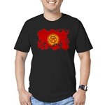 Kyrgyzstan Flag Men's Fitted T-Shirt (dark)