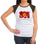 Kyrgyzstan Flag Women's Cap Sleeve T-Shirt