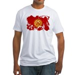 Kyrgyzstan Flag Fitted T-Shirt