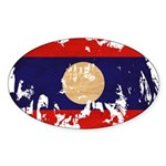 Laos Flag Sticker (Oval 50 pk)