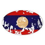 Laos Flag Sticker (Oval)