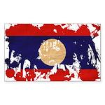Laos Flag Sticker (Rectangle)