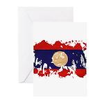 Laos Flag Greeting Cards (Pk of 20)