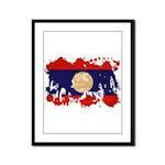 Laos Flag Framed Panel Print