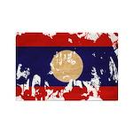 Laos Flag Rectangle Magnet (100 pack)