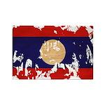 Laos Flag Rectangle Magnet (10 pack)