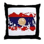 Laos Flag Throw Pillow