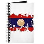 Laos Flag Journal