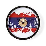 Laos Flag Wall Clock