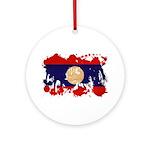 Laos Flag Ornament (Round)