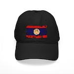 Laos Flag Black Cap