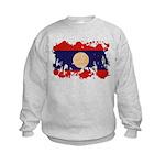 Laos Flag Kids Sweatshirt