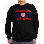 Laos Flag Sweatshirt (dark)
