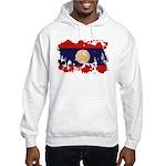Laos Flag Hooded Sweatshirt