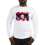 Laos Flag Long Sleeve T-Shirt