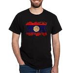 Laos Flag Dark T-Shirt