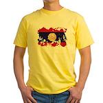 Laos Flag Yellow T-Shirt