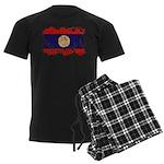 Laos Flag Men's Dark Pajamas
