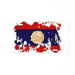 Laos Flag Aluminum License Plate