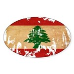 Lebanon Flag Sticker (Oval 50 pk)
