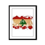 Lebanon Flag Framed Panel Print