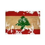 Lebanon Flag Rectangle Magnet (100 pack)