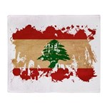 Lebanon Flag Throw Blanket