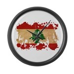 Lebanon Flag Large Wall Clock