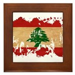 Lebanon Flag Framed Tile
