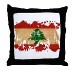 Lebanon Flag Throw Pillow