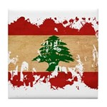 Lebanon Flag Tile Coaster